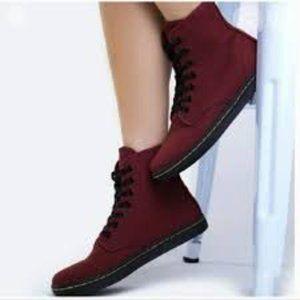 Dr. Martens Shoreditch Canvas Red High Top Sneaker